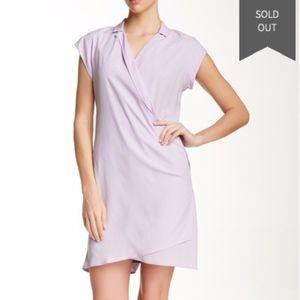 NWT Halston Heritage Loose Notch Collar Silk Dress